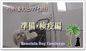 ペット(愛犬)とハワイへ::渡航準備・検疫について